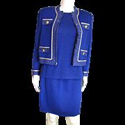 Four Piece Blue Knit St. John's Set
