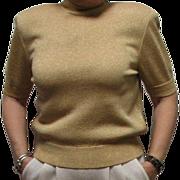 St. John's Gold Metallic Knit Top T Shirt