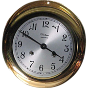 "Amazing 6 1/2"" Solid Brass Chelsie Ship Clock"