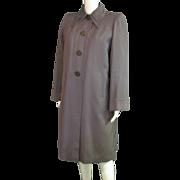 Amazing 1940's Gray Wool Gaberdine Coat