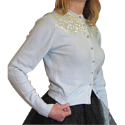 vintage 1950's Sequin Glitz Cardigan Sweater