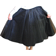Vintage Stunning Black Taffeta & Net Circle Skirt