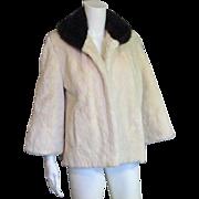 REDUCED    Creamy Soft Beaver & Mink Stroller Jacket