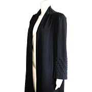 Vintage Navy Blue Wool Gaberdine 1930's Little Lady Sterling Labeled Coat
