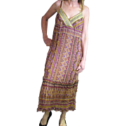 Vintage Boho Chic Spaghetti Strap Gauze Robbie Lee Dress