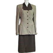 Spectacular 1930's Crews-Beggs Wool Two Piece Suit