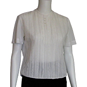 1950's See Thru White Suit Blouse