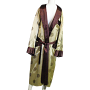 Handsome Vintage Men's Robe Label Reads Oriental Made In China
