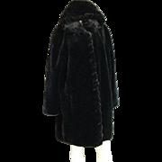 Famous Glamorous Black Vintage Faux Fur Coat