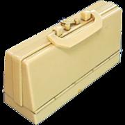 A Celluloid Suitcase Manicure Set Circa 1910