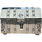 A Sterling Silver Jewelry Treasure Chest Signed Sanborns