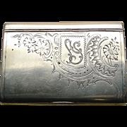 A Czarist Russian 84 Silver Engraved Snuff Box