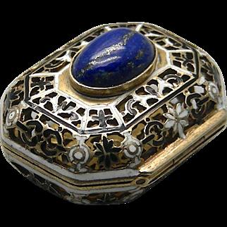 A Victorian Silver Gilt Enamel Vinaigrette Hallmarked Vienna