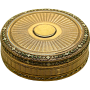 An Especially Beautiful 18K Multicolor Gold & Enamel Box