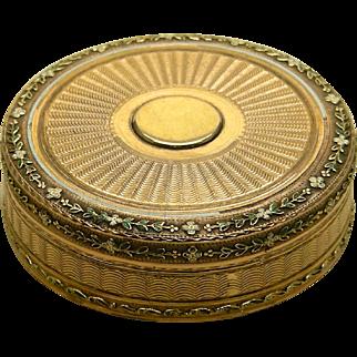 An Especially Beautiful 18K Multicolor Gold & Enamel Box
