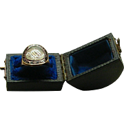 An 18K Georgian Enamel Memorial Ring, Dated 1796