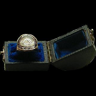 An 18K Georgian Enamel Memorial Ring, Dated 1796