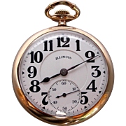 A Bunn Special Illinois Railroad Pocket Watch