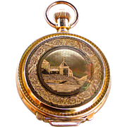 A 14K 18 Size Box Hinge Hunting Case Waltham Pocket Watch Circa 1880