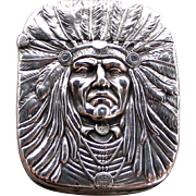 A Sterling Unger Brothers Indian Chief Matchsafe