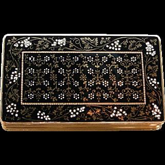 An Antique 18K Enamel Box Hallmarked Paris Circa 1860