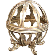 An Amazing Victorian Sterling String Ball Holder