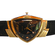 A 14K Gold Hamilton Ventura Electric Watch Circa 1957
