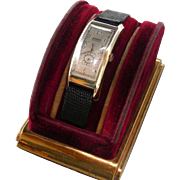 "GRUEN Curvex Deco 52mm ""Majestic"" Wristwatch Circa 1938"