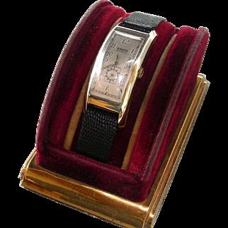 "GRUEN Curvex Deco 52mm ""Majestic"" Wristwatch Circa 1938"
