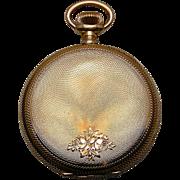 A 14K Pristine Engraved Man's Hunting Case Pocket Watch 16 Size Illinois