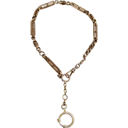 A Larger Fancy Link 14K Victorian Man's Pocket Watch Chain or Necklace