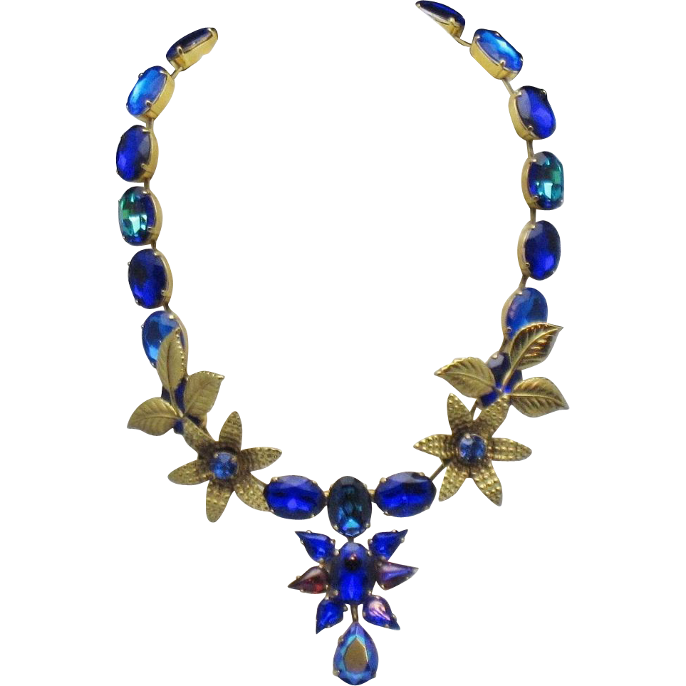 Zoe coste france vintage haute couture cobalt glass for Couture france