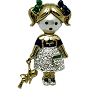 CAROLEE  Figural Girl Brooch Limited Edition  Original Box