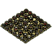 Bohemain Rose Cut Garnet  Brooch and Pendant Art Deco