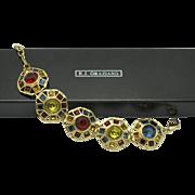 RJ GRAZIANO Mosaic Glass  Bracelet ORIG BOX
