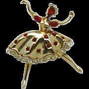 CORO CRAFT Corocraft Vintage 1950s Ballerina Dancer Brooch PIn