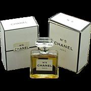 Vintage 1970s Chanel No 5 Extrait Eau de Parfum 1/2 oz Original Boxes Bottle Sealed