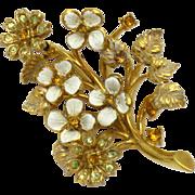 HATTIE CARNEGIE Vintage FlowerTrembler Brooch