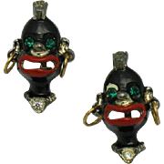 Blackamoor Tribal Ubangi Rhinestone Enamel Scatter Pins