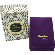 Vintage SHALIMAR Guerlain Paris SEALED Parfum 1/4 fl. oz. Original Box and Presentation Case