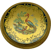 Rare VOGUE VANITIES England Enamel Birds Compact Original Case UNUSED