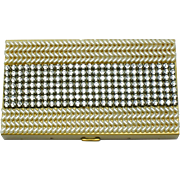 WIESNER of MIAMI Rhinestone Pearl Carryall  Compact Lipstick Comb UNUSED