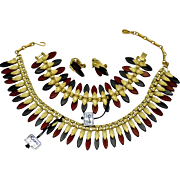 CORO Pegasus Lucite Necklace Bracelet  Earrings SET - Original Tags