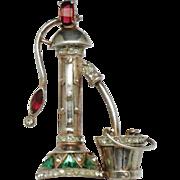 Rare 1947 AQUILINO Sterling Anthony Originals  Water Pump Figural Pin Brooch