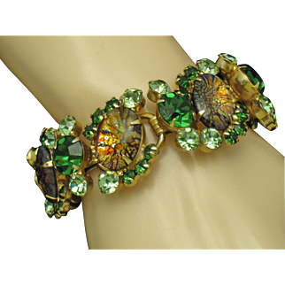 JULIANA DeLizza & Elster CATS EYE Vintage Bracelet