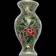 Vintage 1940s CORO Sterling Tussie Mussie Vase Brooch Clip Pin