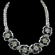 PENNINO Vintage Floral Flower Choker Necklace