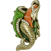 Vintage HATTIE CARNEGIE Figural Mermaid Brooch Pin