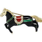 Early CINER Vintage Circus Horse Figural Brooch Pin
