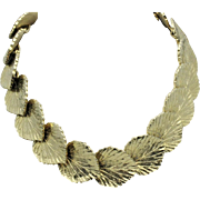 MIMI Di N Vintage 1981 Gold Plated Leaves Choker Necklace